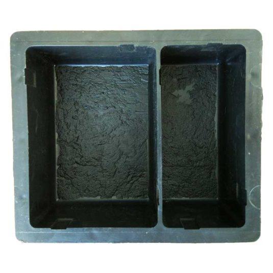 Пластиковая форма для брусчатки Европейский брук квадратный с перегородкой