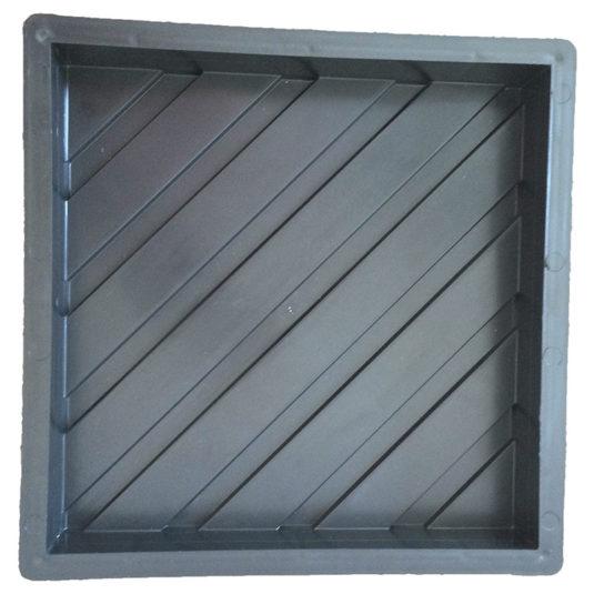 ДИАГОНАЛЬНЫЕ РИФЫ пластиковая форма для тактильной плитки