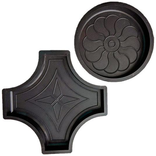 Форма для брусчатки Круг и Крест